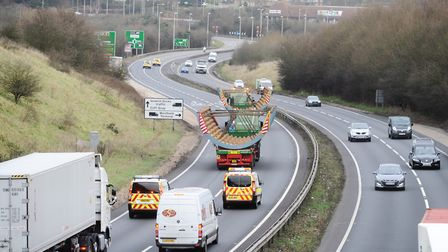 Drivers can expect delays as an abnormal load is transported on the A14 tomorrow. Stock photo Pictur