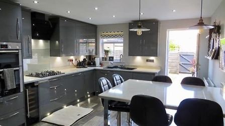 This townhouse in Chaffinch Road, Bury St Edmunds, is available from Connells. Picture: CONNELLS