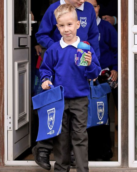 The youngster has started school after a series of major operations Picture: Joe Giddens/PA Wire