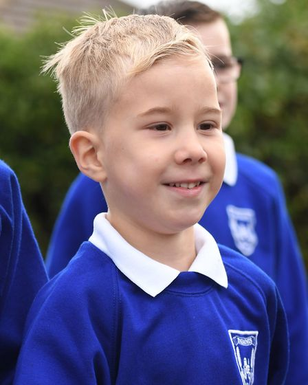 Four year old Alexander Pickering, known as Xander, who has had five major operations since he was b