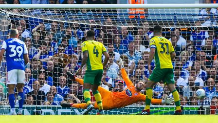Gerken came into the Ipswich side for the draw with Norwich. Picture: STEVE WALLER