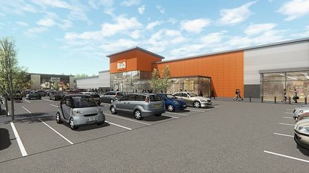 Phase 2 of Stane Park, Stanway will include a new 80,000 sq ft B&Q building. B&Q are relocating from