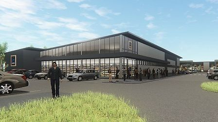 Phase 2 of Stane Park, Stanway will include an 18,000 Aldi store, relocating from Lexden