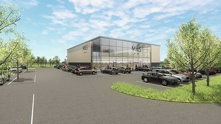 Phase 2 of Stane Park, at Stanway, Colchester will include a new M&S Foodhall. Construction of Phas