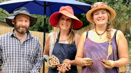 Members of Cobnuts Co-operative who created the People's Wall for Wildlife Picture: Susie Jenkins