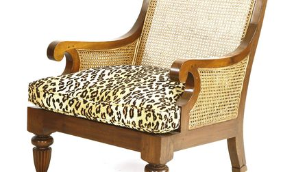 A teal lounge armchair from Rod Stewart's collection