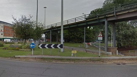The Army and Navy Flyover in Chelmsford has been closed Picture: GOOGLE