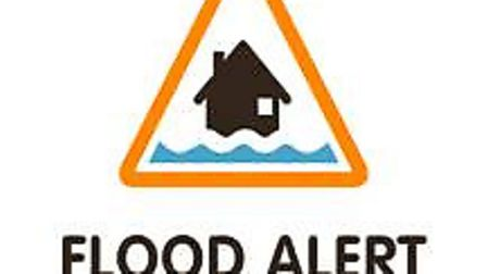 An amber flood alert was issued just before 3pm today Picture: MET OFFICE