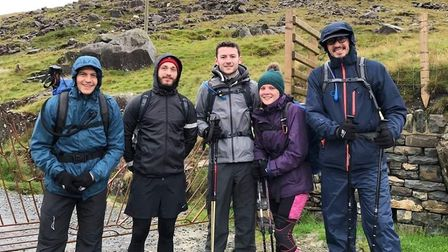 Staff at RSM completed the Three Peaks Challenge for the GeeWizz Charity Picture: RSM