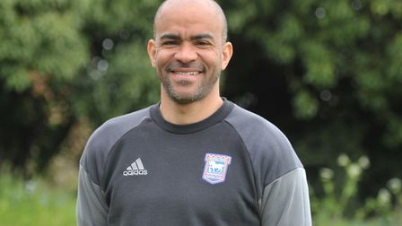Kieron Dyer is the Town under-18 assistant boss. Picture: SARAH LUCY BROWN