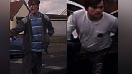An image of the two men Essex Police want to speak to following a crash in Clacton Picture: ESSEX PO