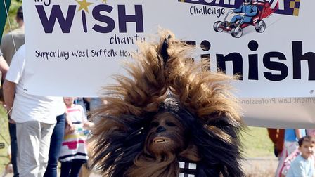 The first West Suffolk Hospital MyWiSH Charity Soapbox Challenge racing down Mount Road in Bury St E