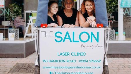 Customers get a warm welcome and top quality treatment at The Salon Picture: THE SALON