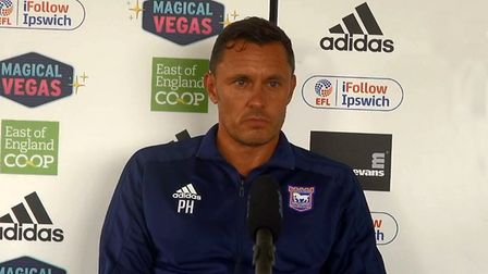 Paul Hurst will speak to the media this lunchtime, PICTURE: ITFC