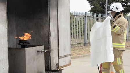 The counterfeit fire blankets were found to be potentially dangerous when tested by Suffolk Fire Ser