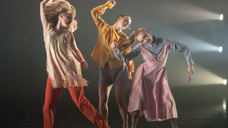 Dancers performing work by Kaia Goodenough at Sadler's Wells in London Photo: Stephen Wright