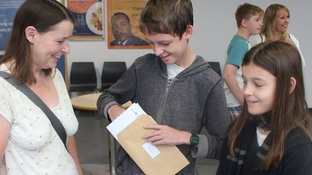 James Cameron opens his results Picture: FELIXSTOWE ACADEMY