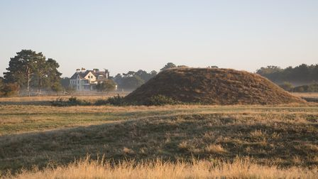 View of Tranmer House and the mound at Sutton Hoo, Suffolk Picture: NATIONAL TRUST/ROBIN PATTINSON