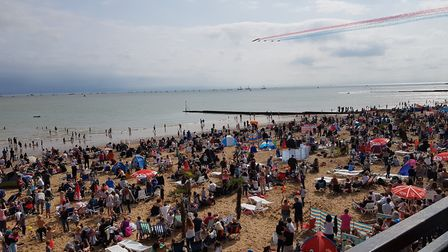 Crowds gather for the Clacton Airshow 2018. Picture: RACHEL EDGE