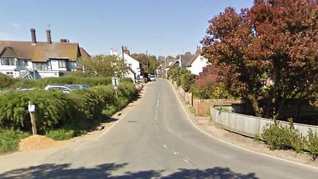The suspected bomb was found in The Street, Walberswick, Picture: GOOGLE