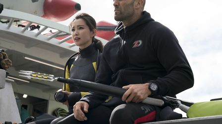 Lil Bingbing as Suyin and Jason Statham as Jonas Taylor in The Meg Picture: PA PHOTO/WARNER BROS