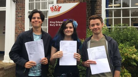 Ollie Cotton, Gabriella Piper, and James Gilbert from King Edward VI School in Bury St Edmunds, who