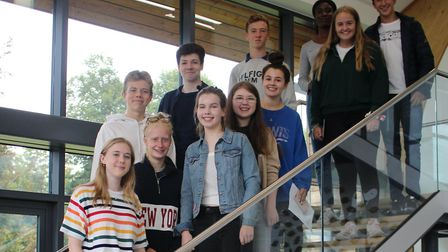 GCSE pupils at Culford School near Bury St Edmunds received their exam results today Picture: CULFOR