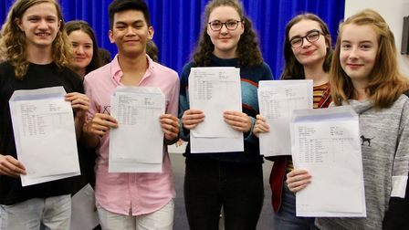 Thomas Gainsborough School - GCSE results Picture: MARCELLE CLAXTON