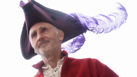 Mike Hamilton-Macy from Mike the Hat at the Ipswich Maritime Festival at the Waterfront. Picture: DE