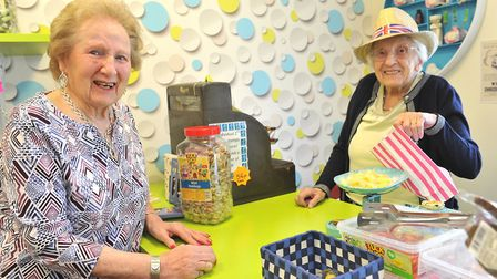 Dotty's Shop at Glastonbury Court Care Home Featuring Olive Unwin and Mary Scates Picture: LUCY TAY
