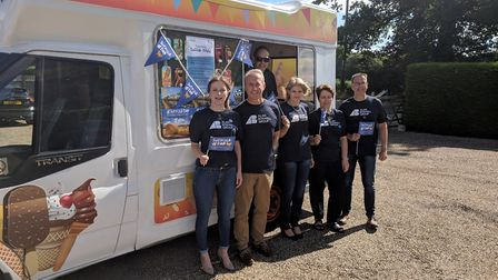 Staff from ABIM Picture: L-R Sophie Lang, Adrian Rayner, Jill Day, Alison Sage, Andrew Terry along w