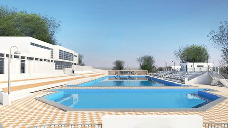 Broomhill pool should be open again in late 2020. Picture: KLH Architects