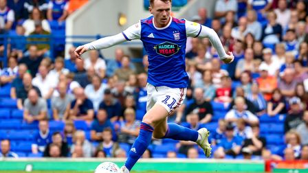 Jon Nolan is a minor doubt today after he rolled an ankle in the midweek defeat at Derby. Photo: Ste