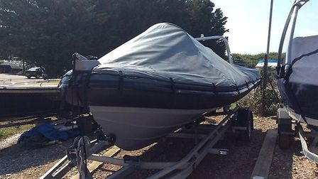 The Ribeye boat was stolen from Southwold Harbour Picture: SUFFOLK POLICE