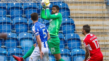 U's keeper Dillon Barnes, who has kept three clean-sheets in the first four league games of the seas