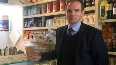 Dr Dan Poulter is urging shops in his constituency to enter the national competition. Picture: Offic
