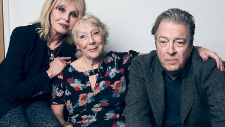Jan Etherington, pictured with Joanna Lumley and Roger Allam Picture: MATT STRONGE