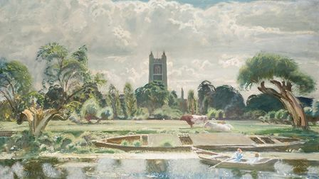 Barge on the Stour at Dedham Sir Alfred Munnings in the 1930s.