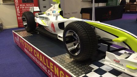 The Nova Training pit stop challenge car. It will be at the Tendring Jobs and Careers Fair on Octobe