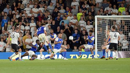 Joe Ledley's deflected second half effort gives Derby a lead against Ipswich Picture Pagepix
