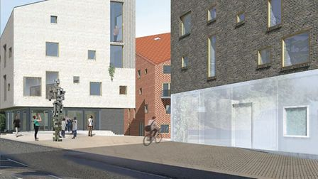 An impression of what the front of the Melton Hill housing development could look like Picture: HOOP