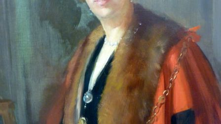 Eva Wollaston Greene, the first woman mayor for St Edmundsbury in 1927/8. Picture: MARTYN TAYLOR