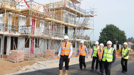 Councillors were given a tour of the Bader Close development in Ipswich while it was under construc