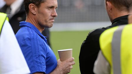 A relaxed Paul Hurst during the warm-up at Derby Picture Pagepix