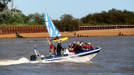 Felixstowe Ferry Sailing Club will be pushing the boat out offering power boat rides as part of the