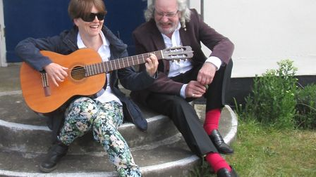Emily Bennett and Brian Ralph who will be providing an evening of poetry and music as part Ferry Fes