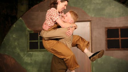 Fizz Waller and Ricky Oakley in Much Ado About Nothing Picture: DAVID NEWBORN