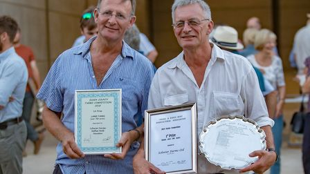 Winners of the over 700 acres to go with the Farms Competition Robert Schwier, left, and Andrew Schw
