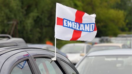 England fans drove with more caution in Suffolk than elsewhere across the country, according to insu