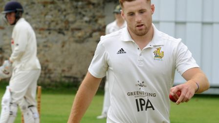 Dominic Manthorpe, who took three wickets in Bury St Edmunds' win at Norwich on Saturday. Picture: A